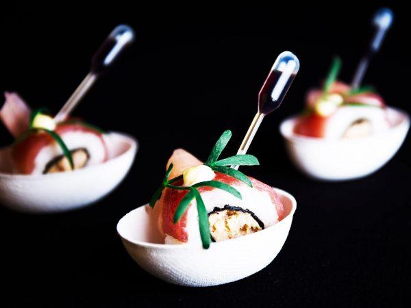 Asian Bites - Spicy tonijn sushi met gember hapje